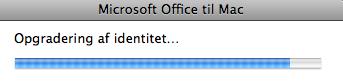 Microsoft Office Identitetsopgradering